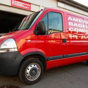 Delivery of the American Bagel Company from Hamburg