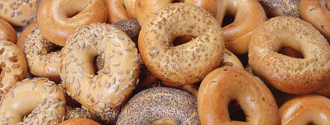 Bagel of the American Bagel Company in Hamburg, Germany