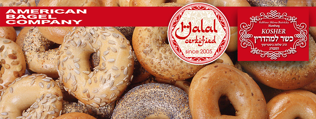 Kosher & Halal Bagel der American Bagel Company in Hamburg, Germany