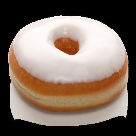 Donut Weiße Zuckerglasur